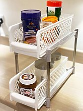 Usave 2 TIER KITCHEN CUPBOARD BASKETS, SLIDING