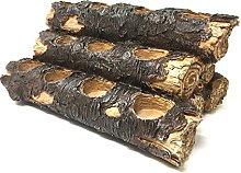 USAWAREHOUSE Tealight Fireplace Log Candle Holder