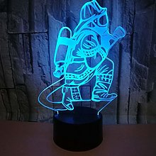 USB Color 3D Led Night Light Gift Atmosphere Table