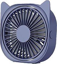 USB Desk Fan Portable Cat Ear Mini Desk Fan 3