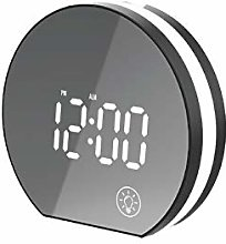 USB Electronic Alarm Clock With Mirror Screen And