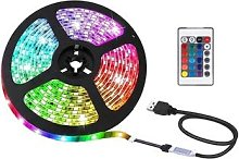 USB LED Colour Changing Strip Lights with Remote