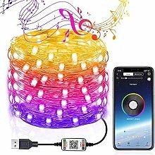 USB Mobile Bluetooth LED String Lights for