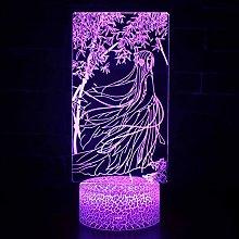 USB Night Light 3D lamp led Valentine's Day