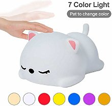 USB Rechargeable Night Light Cat Silicone Night