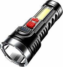 USB Rechargeable OSL+COB LED Flashlight Ultra