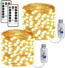 USB String Lights,72ft/200LEDs Lights 2 Set Fairy