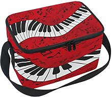 Use7 Abstract Piano Music Red Insulated Lunch Bag