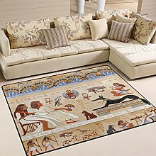 Use7 Ancient Egypt Scene Area Rug for Living Room