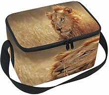 Use7 Big Lion African Grass Insulated Lunch Bag