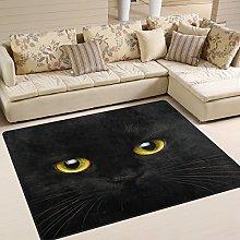 Use7 Black Cat Kitten Area Rug Rugs for Living