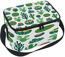 Use7 Blooming Cactus Plant Insulated Lunch Bag