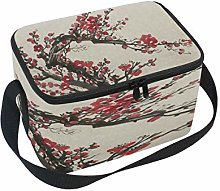 Use7 Bright Red Branch Plum Blossom Insulated
