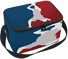 Use7 Cartoon Basketball Player Insulated Lunch Bag