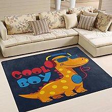 Use7 Cartoon Cool Dinosaur Area Rug Rugs for