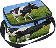 Use7 Cartoon Cow on Summer Pasture Sky Insulated