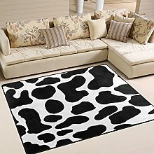 Use7 Cartoon Cow Print Area Rug Rugs for Living