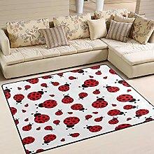 Use7 Cartoon Hipster Ladybug Animal Area Rug Rugs