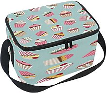 Use7 Cherry Cupcake Retro Insulated Lunch Bag Tote