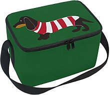 Use7 Christmas Dachshund Puppy Dog in Striped