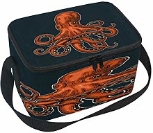 Use7 Colored Fish Octopus Insulated Lunch Bag Tote