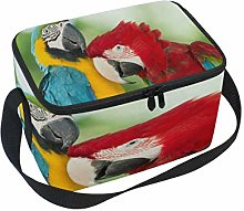 Use7 Colored Parrot Bird Insulated Lunch Bag Tote