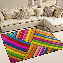 Use7 Colorful Wooden Pencil Area Rug Rugs for