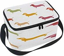Use7 Cute Dachshound Dog Puppy Insulated Lunch Bag