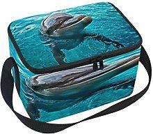 Use7 Cute Dolphin Ocean Sea Insulated Lunch Bag
