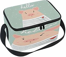 Use7 Cute Pig Animal Insulated Lunch Bag Tote Bag