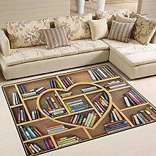 Use7 Educational Bookshelf Area Rug Rugs for