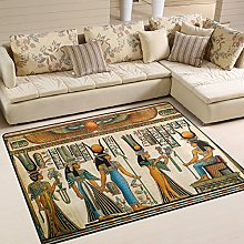 Use7 Egyptian Culture Hieroglyphic Area Rug for