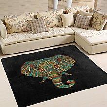 Use7 Ethnic Elephant Black Area Rug Rugs for