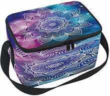 Use7 Flower Mandala Watercolor Insulated Lunch Bag