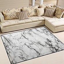 Use7 Funny Marble Print Area Rug Rugs for Living