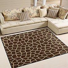 Use7 Giraffe Animal Print Retro Area Rug Rugs for