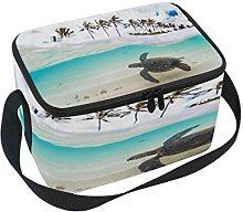 Use7 Hawaiian Palm Tree Sea Turtle Insulated Lunch
