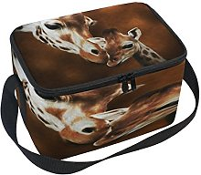 Use7 Hipster Giraffe Insulated Lunch Bag Tote Bag