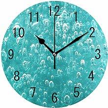 Use7 Home Decor Turquoise Liquid Bubbles Round