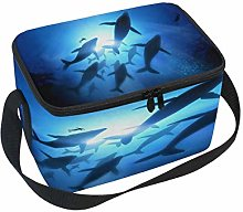 Use7 Humpback Whale Ocean Sea Insulated Lunch Bag