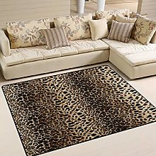 Use7 Leopard Print Vintage Area Rug Rugs for