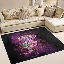 Use7 Magic Watercolor Jellyfish Area Rug Rugs for