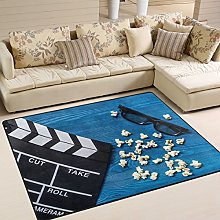 Use7 Movie Clapboard Vintage Area Rug Rugs for
