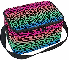 Use7 Multicolor Leopard Print Insulated Lunch Bag