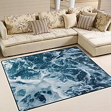 Use7 Ocean Sea Wave Area Rug Rugs for Living Room