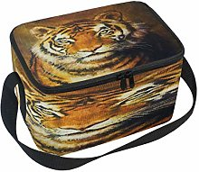 Use7 Oil Painting Tiger Animal Insulated Lunch Bag