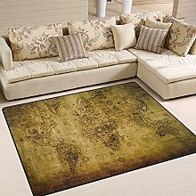 Use7 Old World Map Artwork Area Rug Rugs for