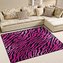 Use7 Pink Zebra Animal Print Striped Area Rug Rugs