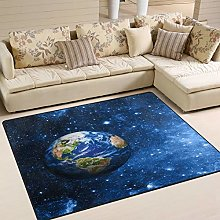 Use7 Planet Earth Universe Star Area Rug Rugs for