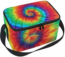 Use7 Rainbow Spiral Tie Dye Insulated Lunch Bag